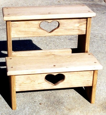 Step Stool - Wooden Step Stool - Wood Step Stool