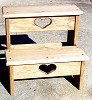Wooden step stool, step stool, wood step stool